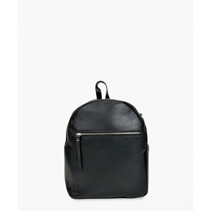 Image for Black leather backpack