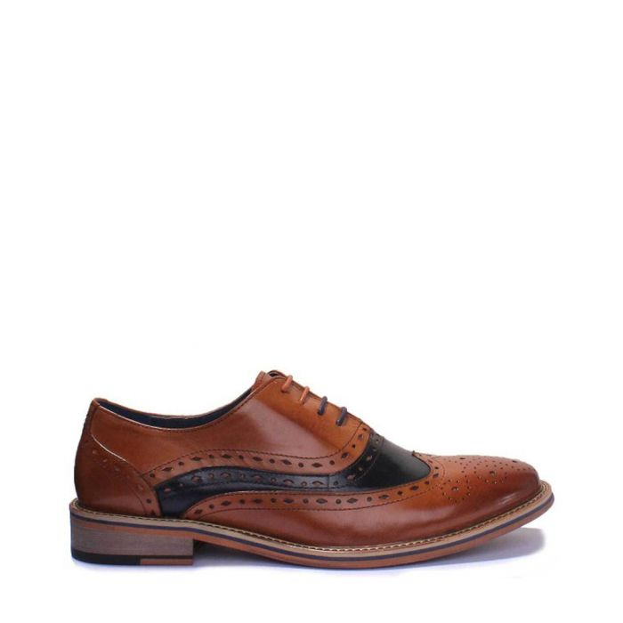 Image for Mark tan leather contrast brogues