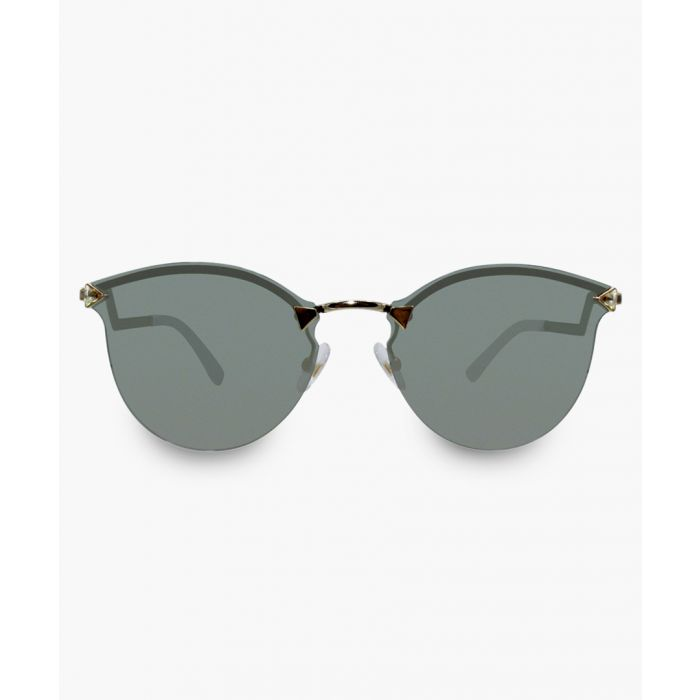 Image for Rose gold-tone and grey mirrored sunglasses