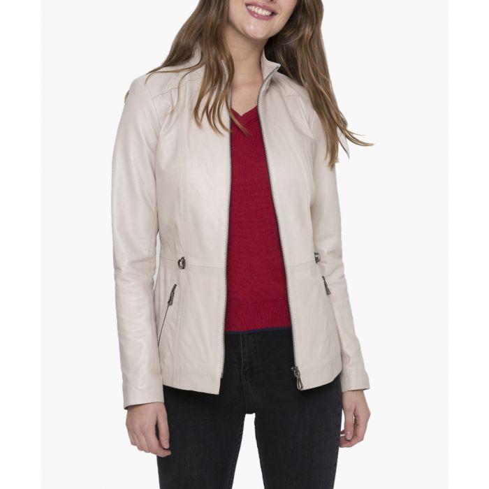 Image for Beige leather jacket