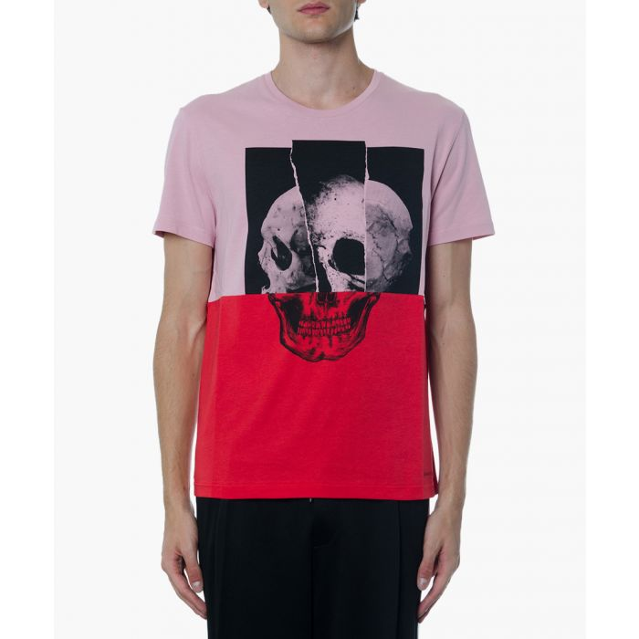 Image for Pink and fuchsia cotton printed T-shirt