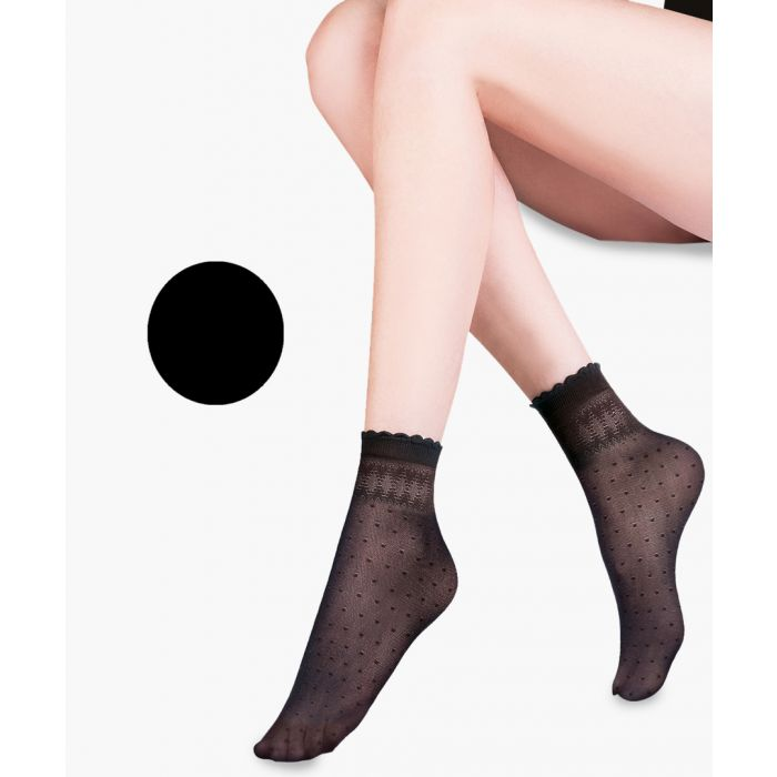 Image for Pia black ankle socks 20 denier