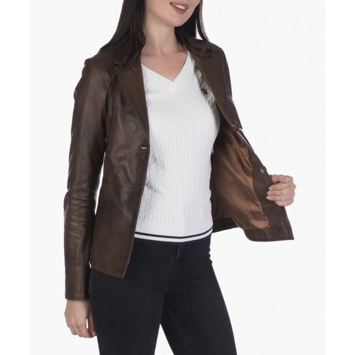 Image for Brown leather jacket