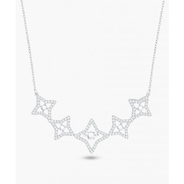 Image for Sparkling silver-plated crystal motif necklace