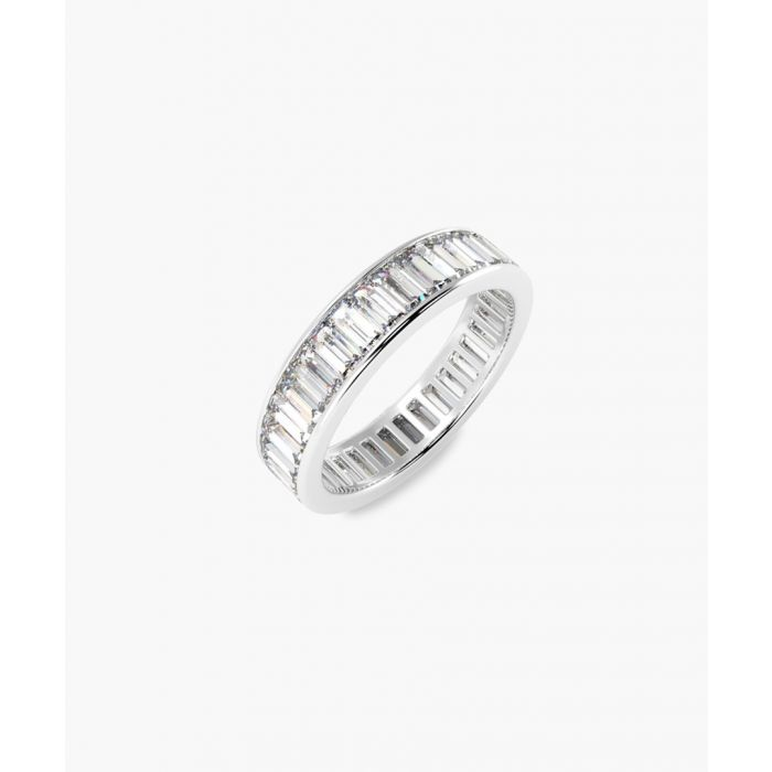 Image for Platinum and 2.00ct baguette-cut diamond full eternity ring