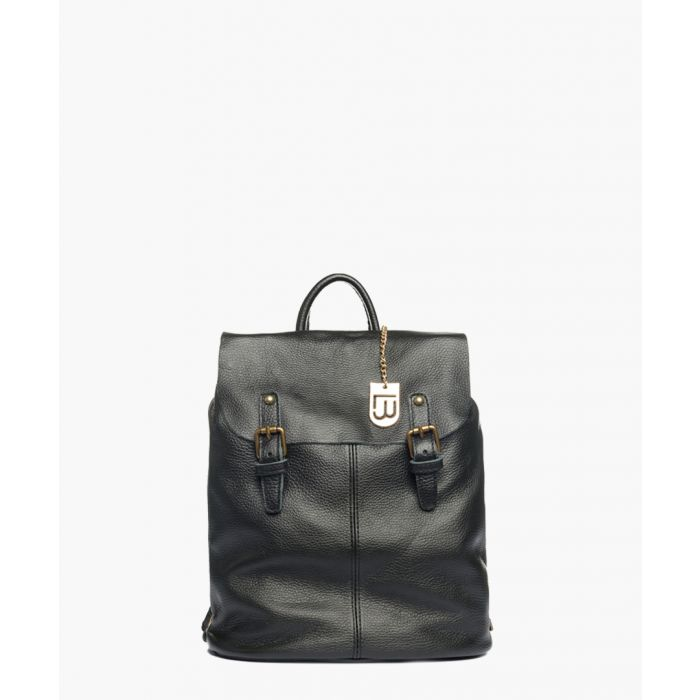 Image for Breno black leather backpack