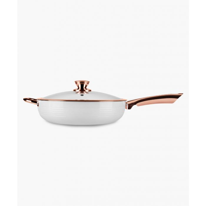 Image for White and rose gold-tone multi-pan 28cm