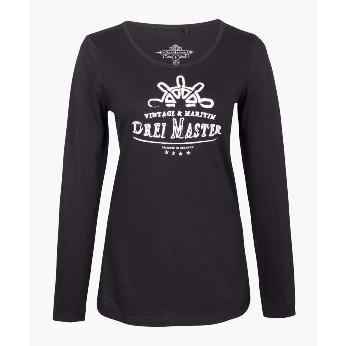 Image for Black long sleeved top