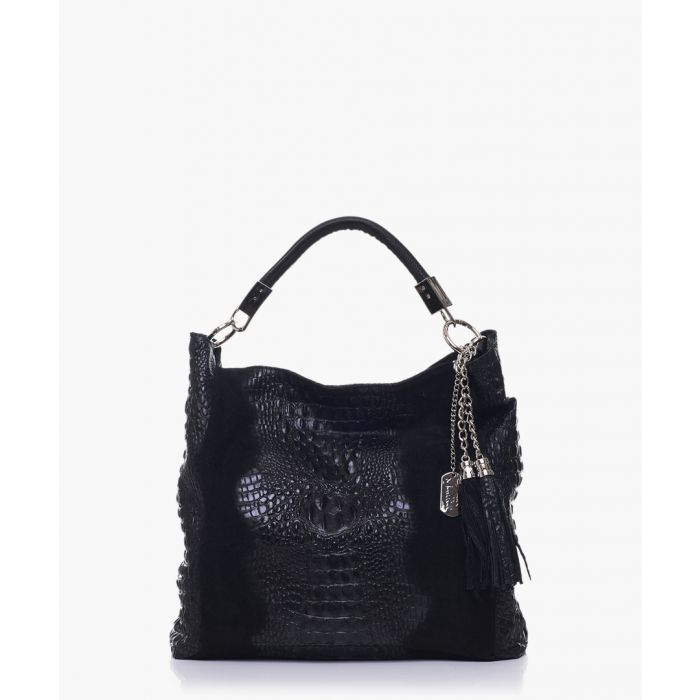 Image for Allessandra black leather shoulder bag