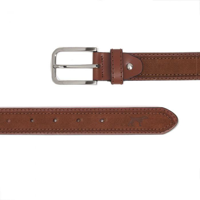 Image for Cinturon Doble Piel Cuero Hombre Hecho en España