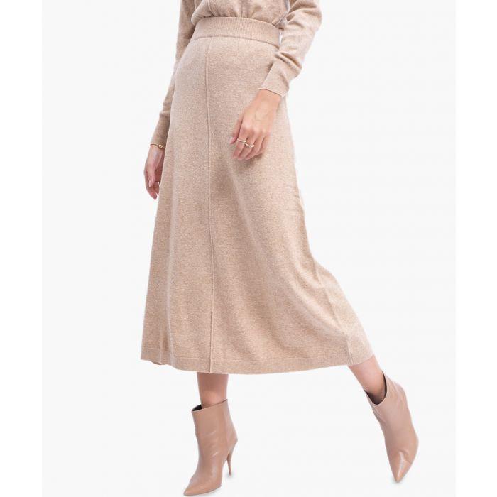 Image for Camel cashmere blend Skirt