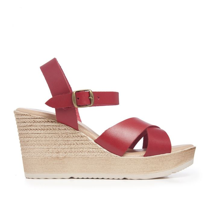 Image for Hight Wedge Leather Sandal for Women Eva Lopez
