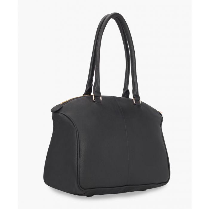 Image for Taorina black leather shopper