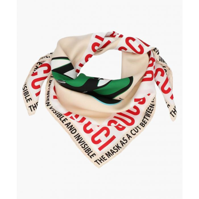 Image for Mask print silk scarf