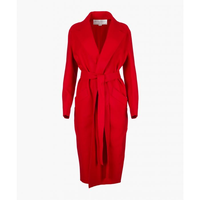 Image for Red wool blend cocoon coat