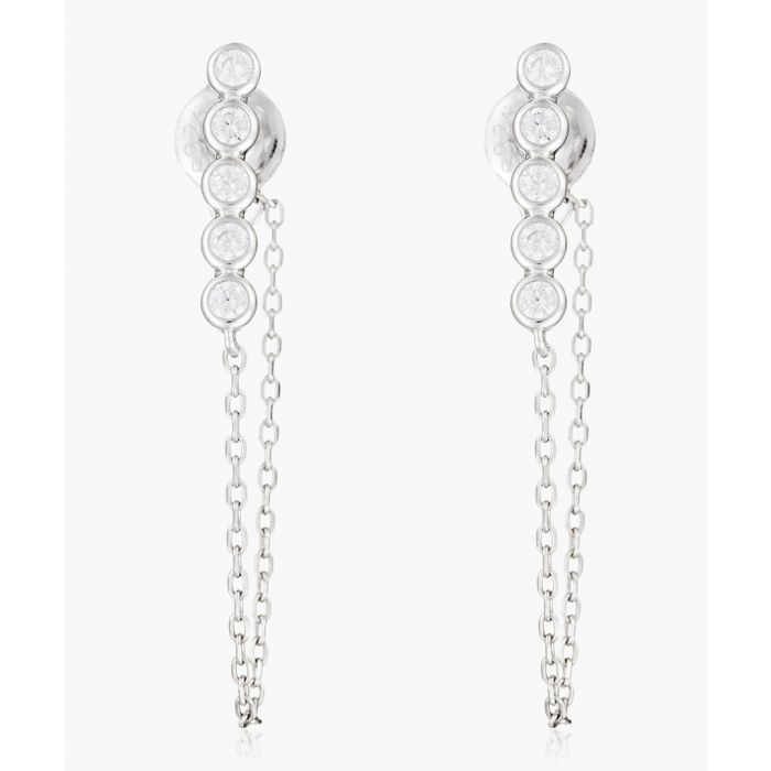 Image for Elegant chain silver-plated earrings