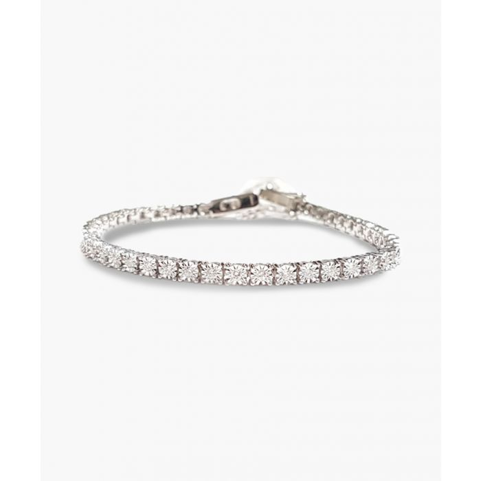 Image for 9k white gold diamond illusion bracelet