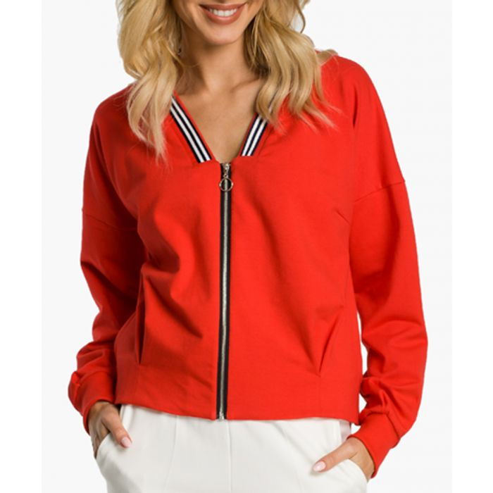 Image for Red Cotton Blend Jacket
