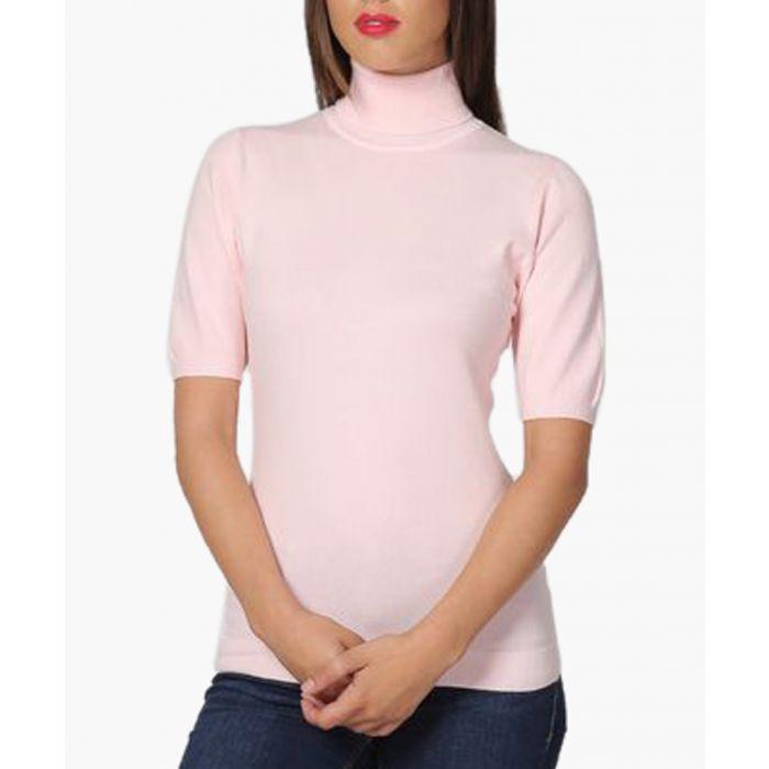 Image for Pink cashmere blend jumper