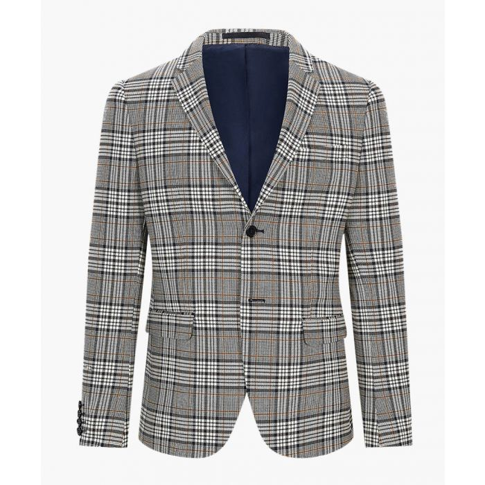 Image for Grey check slim suit jacket