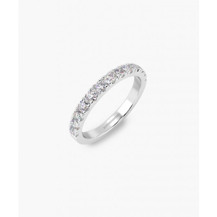 Image for 2mm platinum and 0.25ct diamond micro pave eternity ring