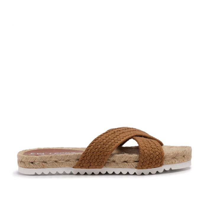 Image for Flat Yute Sandal for Women Brown Shoes Eva Lopez