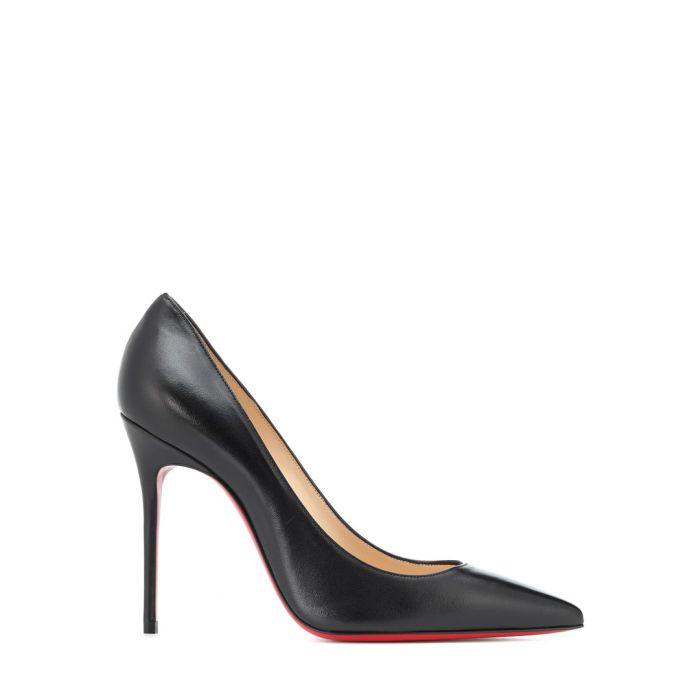 Image for Kate black leather heels