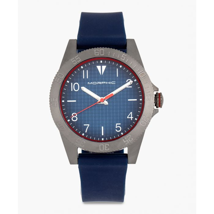 Image for M84 Series rubber and stainless steel analogue watch