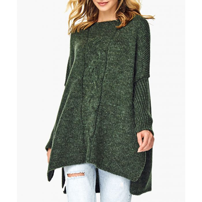 Image for Khaki wool blend knitted sweater