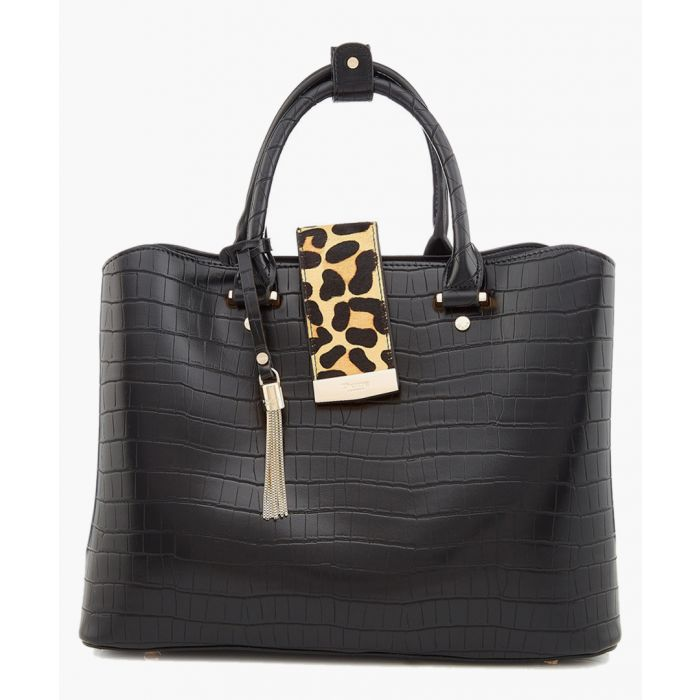 Image for Dune Black moc-croc & leopard grab bag Grab Bag black, croc/ leopard