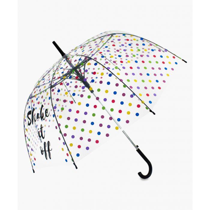 Image for Multi-coloured Shake It Off transparent umbrella