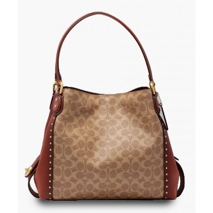 Image for Edie 31 rust printed shoulder bag