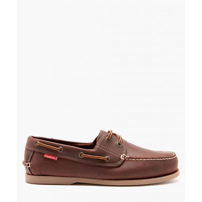Image for Dominica dark brown leather deck shoes