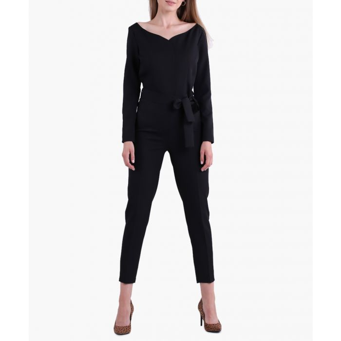 Image for Black woven jumpsuit
