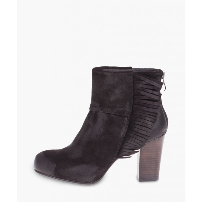 Image for Maroon leather ankle boots