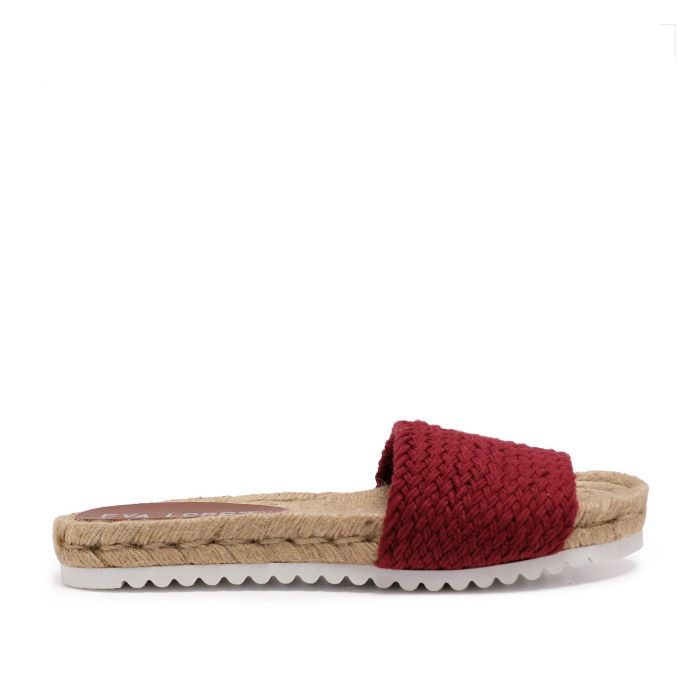 Image for Flat Yute sandal for Women Red Shoes Eva Lopez
