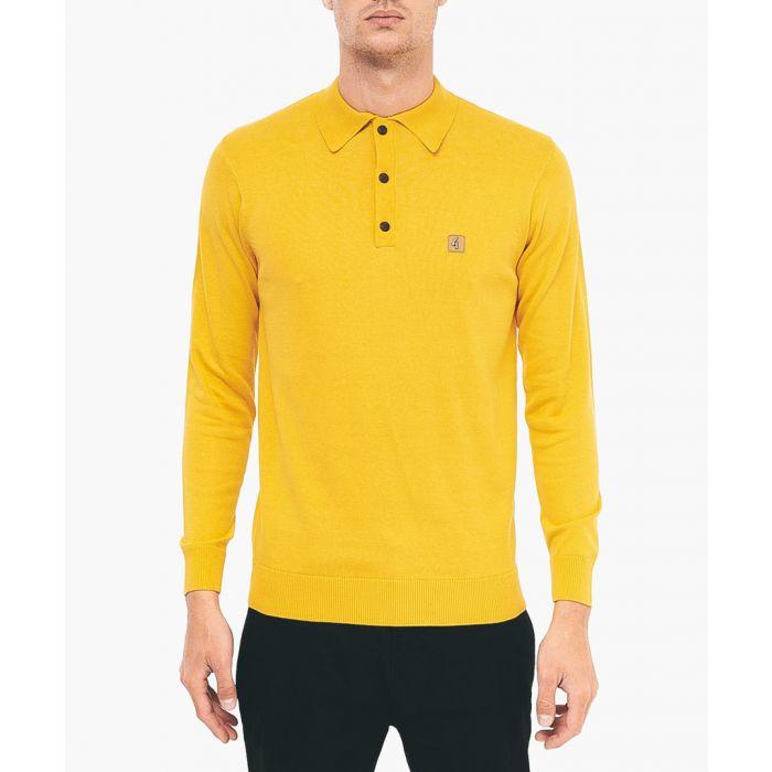Image for Yolk cotton blend polo shirt
