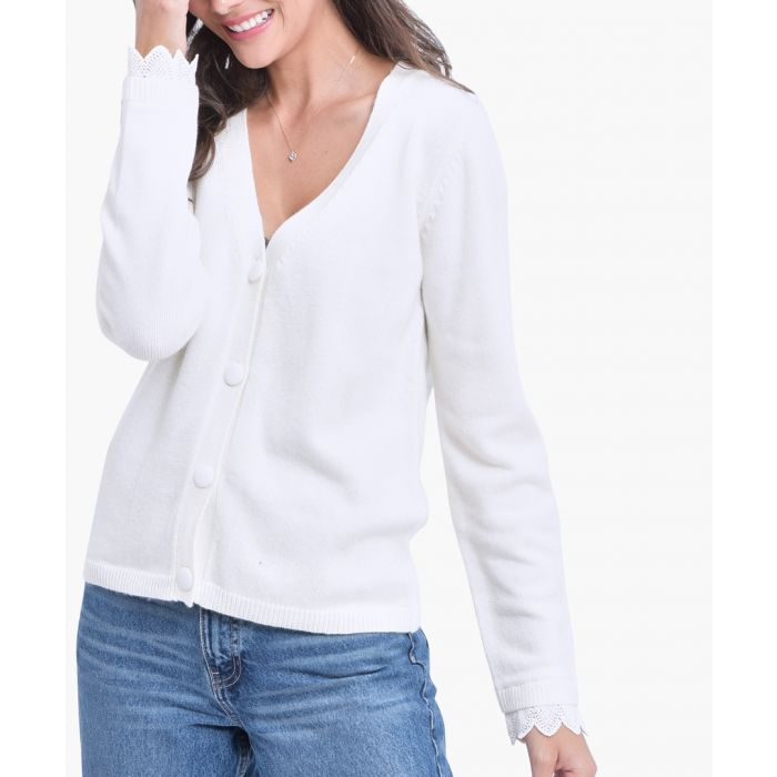 Image for Natural cashmere and silk blend cardigan
