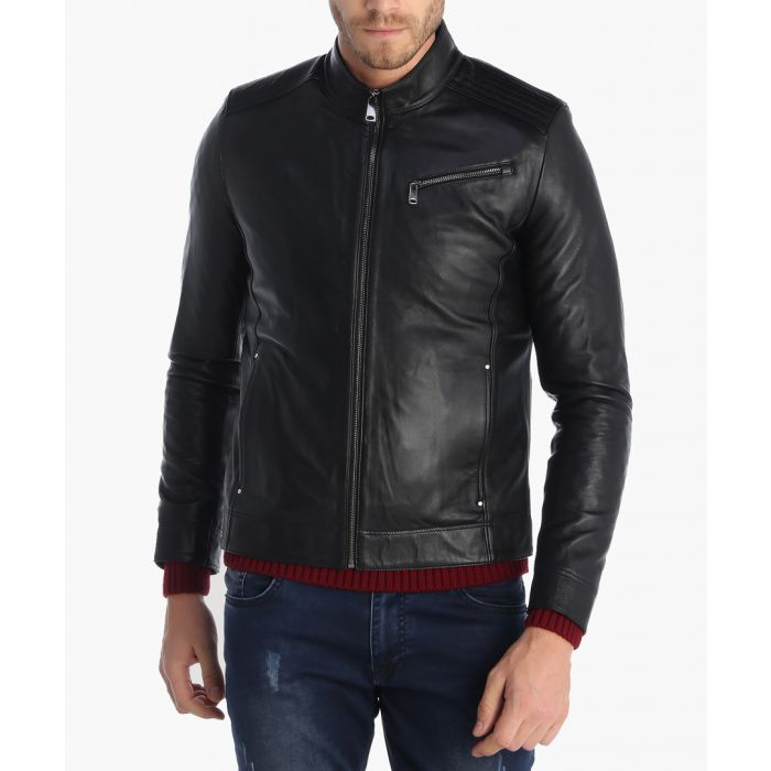 Image for Black leather jacket