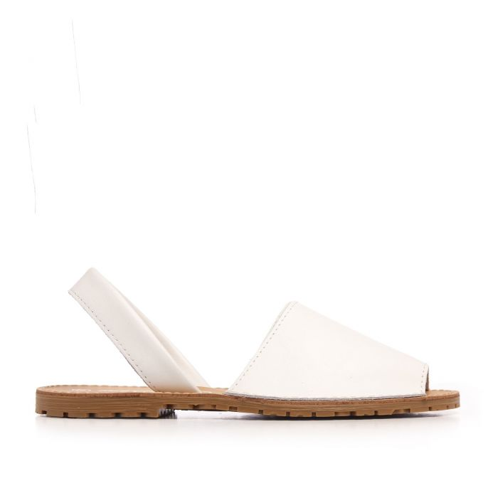 Image for Classic leather sandal Menorquina for Women White Shoes Maria Barcelo