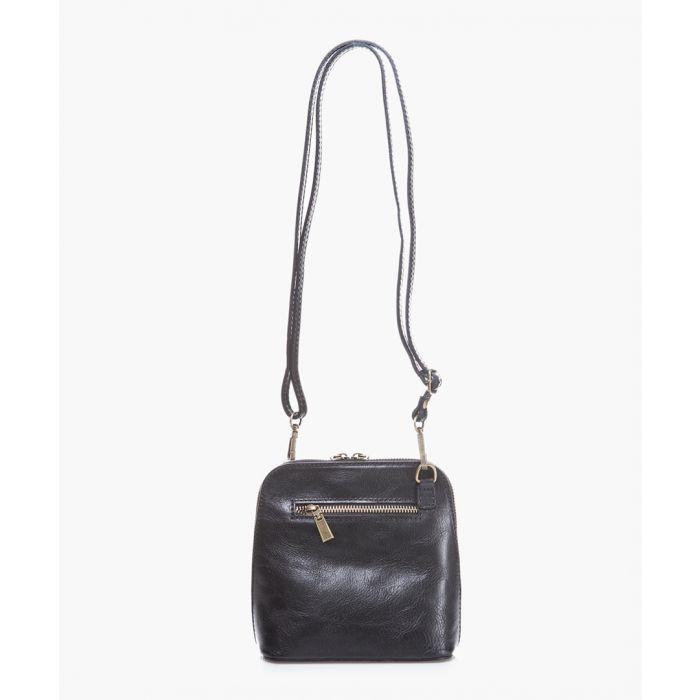 Image for Black leather shoulder bag