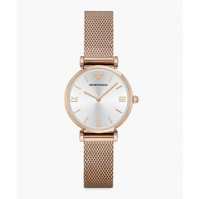 Image for Rose gold-tone mesh bracelet watch