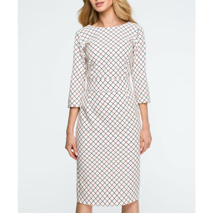Image for Monochrome grid pencil dress
