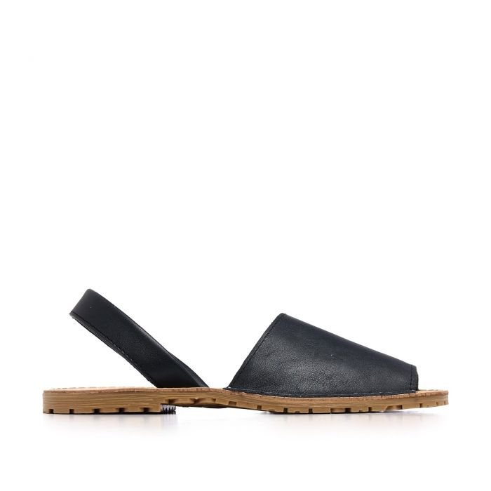 Image for Classic leather sandal Menorquina for Women Navy Blue Shoes. Maria Barcelo