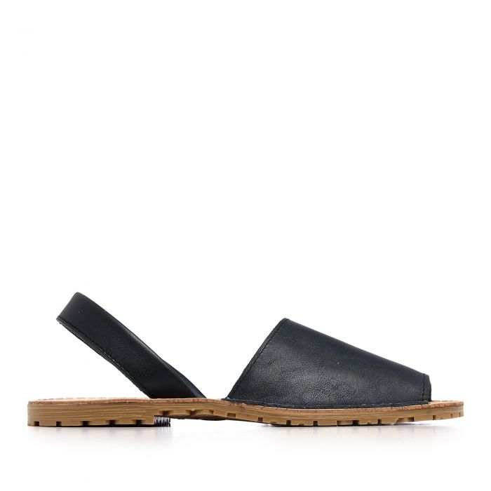 Image for Womens leather sandals navy