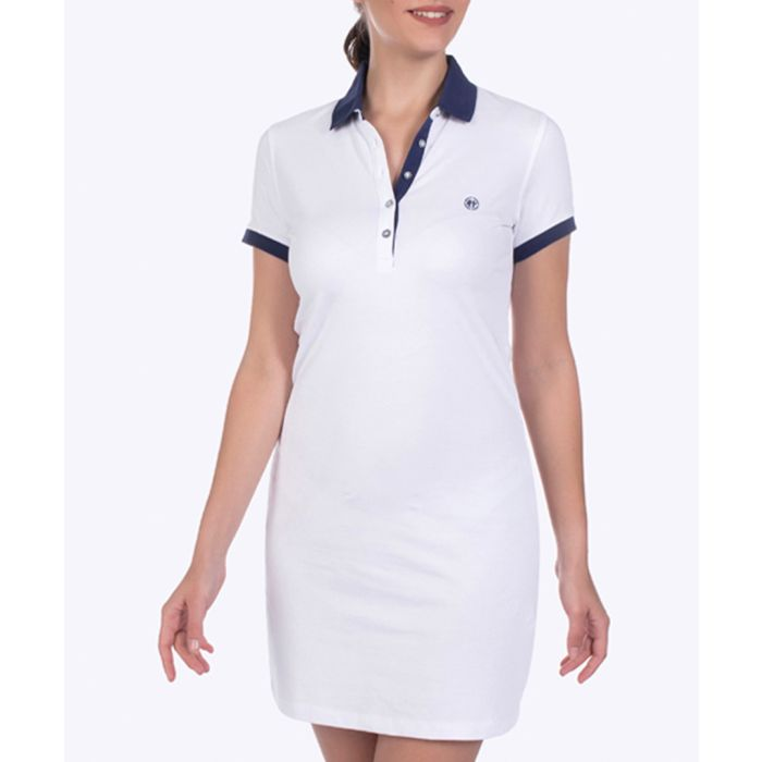 Image for White cotton stretch shirt dress