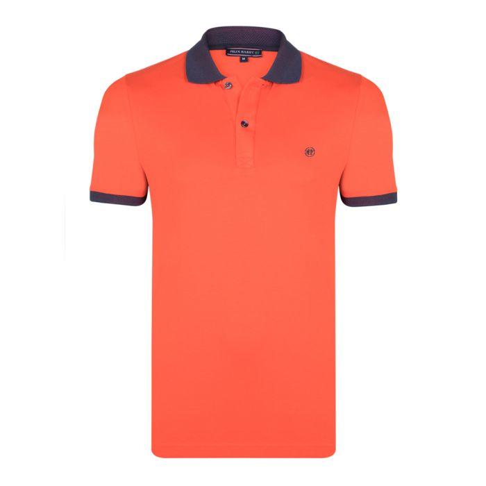 Image for Brick cotton short sleeve polo shirt