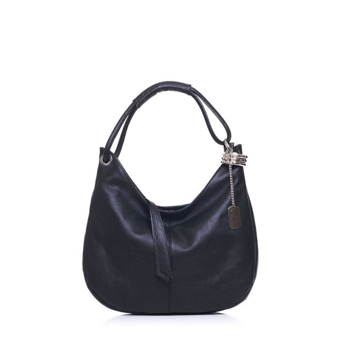 Image for Midnight leather slouch shoulder bag