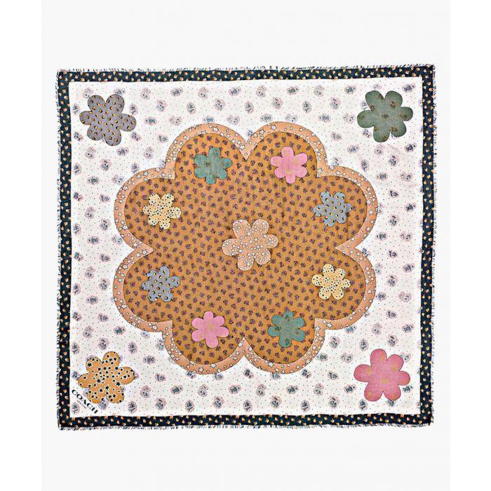 Image for Desert Flower amber square scarf