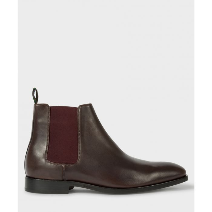 Image for Dark brown leather Chelsea boots